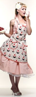 i already have the apron. wanted this dress in white eyelet for my wedding, might still get it in another color.