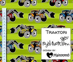 Trikoo Traktori - vihreä / Jersey Tractor - green
