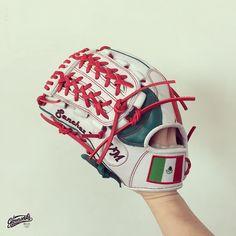 GLOVEWORKS x SANCHEZ   Red, Green and White - So Mexico.  Fly your Bandera de Mexico!   #Baseball #Mexico #Gloveworks #BringItHome #CustomGlove #CustomMitt #CustomBaseballGlove #ProGlove