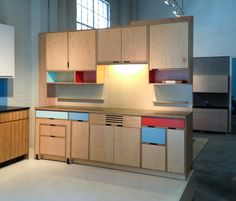 Small kitchen by kerf design.