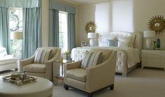 Beautiful Buildings: Beautiful Blue & Cream Bedroom
