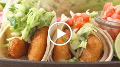 These fish tacos are pan fried with a light coating of cornmeal, if you prefer a crunchier fish try our Breaded and Baked Fish Tacos. Baked Fish Tacos, Easy Fish Tacos, Slaw Recipes, Fish Recipes, Vegetarian Tacos, Vegetarian Recipes, Kosher Recipes, Cooking Recipes, Free Taco