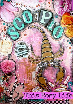 Horoscope art Scorpio art Scorpio print astrology by ThisRosyLife
