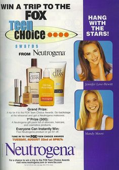 Mandy Moore, Jennifer Love Hewitt for Oxy | 20 Dated Celebrity Endorsements From Over A Decade Ago