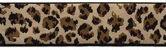 "1 1/2"" Cream Black Brown Leopard Sewing trim... also comes in matching 7/8"" trim."