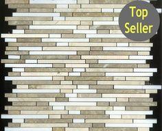 Light Emperador, Cream Marfil, And Thasos White Bullet Marble Mosaic Mosaic Backsplash, Marble Mosaic, Glass Mosaic Tiles, Olympia Tile, Thasos, Tile Stores, Prince Edward Island, Glass Marbles, Luxury Vinyl
