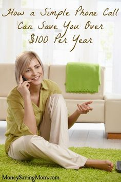 When is the last time you called to ask for a discount on your monthly bills? A simple phone call could save you $100+ per year!