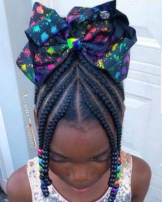 Little Girl Braids, Black Girl Braids, Braids For Kids, Braids For Black Hair, Girls Braids, Lil Girl Hairstyles, Black Kids Hairstyles, Girls Natural Hairstyles, Kids Braided Hairstyles