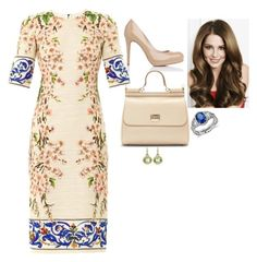 """""""World Economic Forum Annual Meeting 2015: Attending a Mexico Buffet by the Government of Mexico and Various Sessions"""" by fashion-royalty ❤ liked on Polyvore featuring L.K.Bennett, Dolce&Gabbana and Blue Nile"""