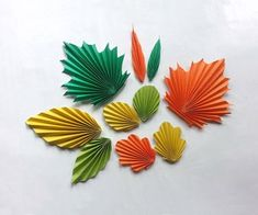 Papercraft Contest 2015 - Instructables Origami Leaves, Origami Flowers, Diy Flowers, Leaf Template, Flower Template, Leaf Crafts, Flower Crafts, Diy Crafts, Construction Paper Flowers