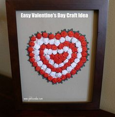 DIY Heart Picture--maybe use small silk flowers