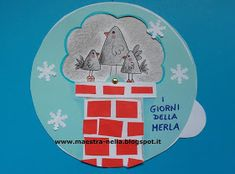 maestra Nella: i giorni della merla (2) Christmas In Germany, Winter Christmas, Paper Serviettes, Teacher Must Haves, Crafts For Kids, Arts And Crafts, New Years Eve Party, Decoupage, Preschool