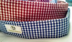 Red or Blue Gingham Dog Collar by HalasPaws on Etsy, $11.99