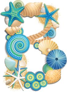 Typography - Alphabet Beach Blue - Letter B Sea Crafts, Paper Crafts, Decoupage, Scrapbook Letters, Hawaian Party, Cartoon Sea Animals, Typography Alphabet, Alphabet And Numbers, Scrapbook Embellishments