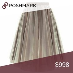 COMING SOON ⚬ Mocha 5 Layer Midi Tulle Skirt Perfect for Spring! 5 Layer Tulle Mid-length skirt, Satin waistband.   One size fits most.    Price will be approx  $40.  ***PLEASE MESSAGE ME TO BE TAGGED UPON ARRIVAL *** Boutique  Skirts Midi