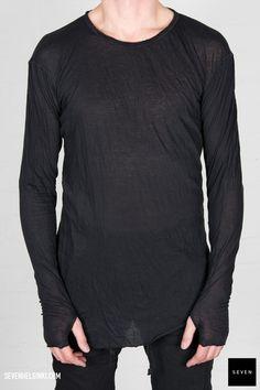Boris Bidjan Saberi BBS LS1-F013 black 260 € | Seven Shop Long Sleeve, Sleeves, Mens Tops, T Shirt, Shopping, Black, Fashion, Supreme T Shirt, Moda