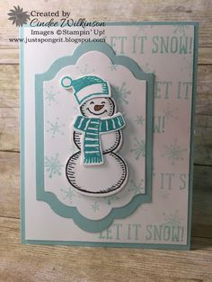 Just Sponge It: Wintertime, Stampin' Up! Only Challenge, Snow Place stamp set, Lots of Labels Framelits, Wink of Stella, Wintertime cards, DIY, Stampin' Up!