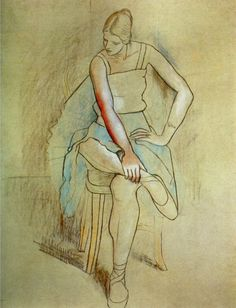 Pablo Picasso (1881-1973)  Danseuse assise (Olga Picasso). 1920