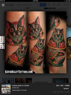 This is awesome! Boston Terrier Tattoo, Boston Terriers, Russian Tattoo, Boston Art, Cool Tattoos, Awesome Tattoos, Tatoos, Cute Pins, Dog Life