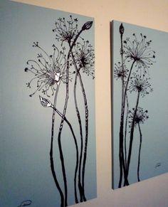 grau monochromatisch Leinwandbilder selber gestalten diy floral