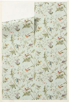 Wallpaper from Anthropologie. hints of wall paper through the house? (find removable for resale)