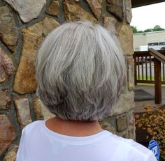 Fifty, not Frumpy: Natural gray hair with added low and highlights. Click to see before and after.