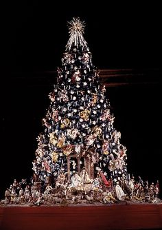 The Virgin appearing in the Baroque  Neapolitan Christmas Tree at the  Metropolitan Museum of Art, NYC.