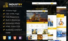 #Theme Of The 05 Oct 2017 Industry - Factory & Industrial HTML Mobile Responsive Template For Business by @dexignzone http://www.designnominees.com/themes/industry-factory-industrial-html-mobile-responsive-template-for-business