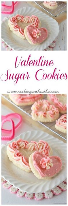 Valentine Sugar Cookies on www.cookingwithruthie.com to help you share the love this year!