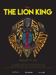 Behance :: Editing The Lion King Typography Poster