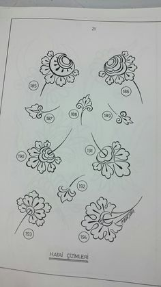 Flowers Illustration Pencil 67 Ideas For 2019 Blackwork Embroidery, Embroidery Patterns Free, Hand Embroidery Designs, Persian Motifs, Sketches Tutorial, Islamic Art Calligraphy, Doodle Patterns, Floral Illustrations, Tile Art