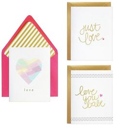 Foil Printed Design Just Love Vertical Fold Note-cards Black Inside (Set of How To Fold Notes, Coordinating Colors, Folded Cards, Just Love, Note Cards, Party Supplies, Print Design, Greeting Cards, Invitations