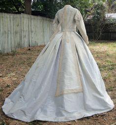 Enormous moire gown c.1866