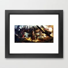 Another CO X PureHAY artist series -- Escape!!! Framed Art Print by Another-CO - $47.00