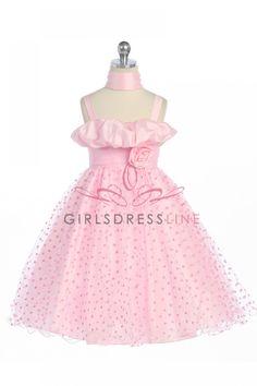 Pink Taffeta Tulle Layer Flower Girl Dress Coral Flower Girl Dresses, Birthday Dresses, Pageant Dresses, Pretty Girls, Layers, Tulle, Arrow Keys, Close Image, Pink