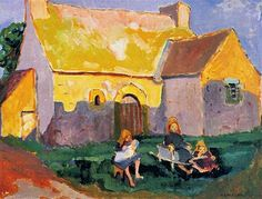 """igormaglica: """" Emily Carr Breton church, oil on canvas """" Tom Thomson, Emily Carr, Canadian Painters, Canadian Artists, Canadian Things, Painting Lessons, Painting & Drawing, Group Of Seven Paintings, Vancouver Art Gallery"""