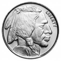 Beautiful Design Modeled after the buffalo nickel: Money Metals' oz Silver Buffalo Indian Head Rounds are Perfect for Barter. Silver Value, Us Silver Coins, Coin Dealers, Valuable Coins, Mint Gold, Silver Bullion, Silver Prices, Indian Head, Silver Rounds