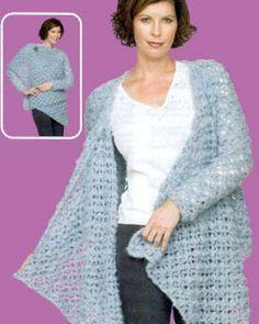 Crochet Lace Wrap Top LW1495 | Free Patterns