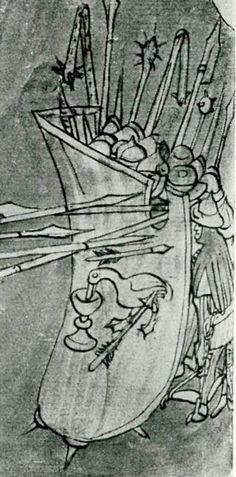 Matthias Corvinus, Shield Design, Medieval Times, Historical Art, 15th Century, Armors, Swords, Knights, Martial Arts