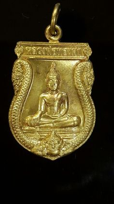 Antique: Coin #FreeShipping antique Thai Amulet Coin Phra Thongkham By Phra Prommangkalachan Wat Trimit Protection