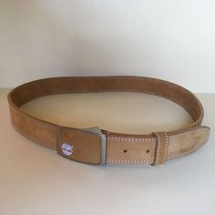 TIMBERLAND MEN'S BELT AND BUCKLE TAN 36 INCHES  #Timberland