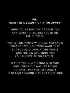 """Be on your guard: those """"someone else's"""" out there are not always who they pretend to be - there are many pseudo INFJ & INFP charlatans and wolves preying on lost sheep. Infj Mbti, Intj And Infj, Infj Type, Isfj, Rarest Personality Type, Infj Personality, Personality Profile, Thats The Way, That Way"""