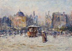 FREDERICK McCUBBIN (1855 – 1917) PRINCES BRIDGE, 1910 (Swanston St from Princes Bridge', 1910))