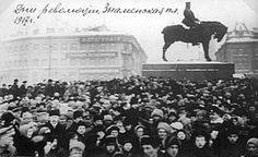 Crowds in Petrograd square during February Revolution Petrograd, March 12 (February O. armed insurrection spreads March February Revolution erupts in Petrograd - World Socialist Web Site February Revolution, World Conflicts, Equestrian Statue, Russian Revolution, St Petersburg Russia, Royal Academy Of Arts, World History, Nostalgia