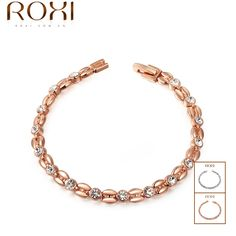 Top Quality Rose Gold Plated Inlay Zircon Wheat-shaped Bracelet & Bangles SWA ELEMENT Austrian Crystal Bracelets #2060802490 Dressional #dressional