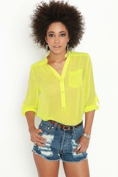 Rock Candy Blouse - Lime - StyleSays