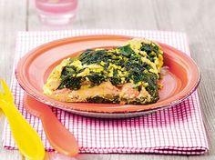 Omelette di spinaci e salmone 12-18 mesi