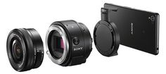 Sony - NEW E-Mount Mobile Phone / Smartphone External Camera (ILCE-QX1) QX1