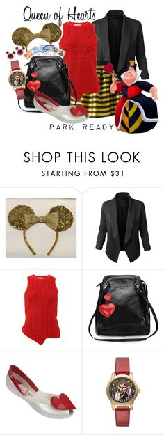 """Queen of Hearts: Park Ready"" by laniocracy ❤ liked on Polyvore featuring Disney, LE3NO, P.A.R.O.S.H., Jonathan Simkhai, Vivienne Westwood Anglomania + Melissa and disneyland"
