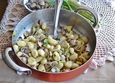 Gnocchi vongole e zucchine,un primo per le feste,facile,veloce e saporitissimo!